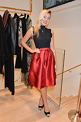 LARISSA EDDIE at the launch of the Luisa Spagnoli Flagship store at 171 Piccadilly, London on 13th October 2016.