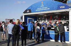 June 28, 2017 - Loja de produtos oficiais antes da partida entre Portugal x Chile válida pelas semifinais da Copa das Confederações 2017, nesta quarta-feira (28), realizada no Estádio da Arena Kazan, na cidade de Kazan, na Rússia. (Credit Image: © Rodolfo Buhrer/Fotoarena via ZUMA Press)
