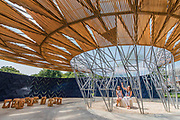 Justin Simons deputy London Mayor for Culture and the Creative industries - The new Serpentine Pavillion designed by Diebedo Francis Kere is opened outside the Serpentine gallery in Hyde Park.