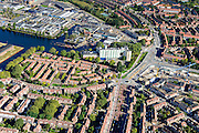 Nederland, Noord-Holland, Amsterdam, 27-09-2015; Amsterdam-Noord rond Mosplein met Disteldorp, Van der Pekbuurt en Gentiaanbuurt., <br /> Amsterdam North.<br /> luchtfoto (toeslag op standard tarieven);<br /> aerial photo (additional fee required);<br /> copyright foto/photo Siebe Swart