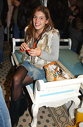 MISS AMANDA SHEPPARD at a party to celebrate the opening of children's store Chippi Hacki at 8 Motcomb Street, London, SW1 on 24th November 2004.<br />