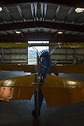 Stearman Model 70 in the restoration shop at WAAAM.