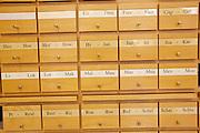 Universities in Vienna, Austria..Universität Wien..The old library. Index.