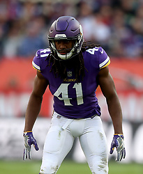 Minnesota Vikings' Anthony Harris during the International Series NFL match at Twickenham, London. PRESS ASSOCIATION Photo. Picture date: Sunday October 29, 2017. See PA story GRIDIRON London. Photo credit should read: Simon Cooper/PA Wire. RESTRICTIONS: News and Editorial use only. Commercial/Non-Editorial use requires prior written permission from the NFL. Digital use subject to reasonable number restriction and no video simulation of game.