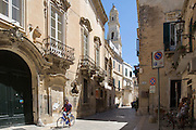 Street in the city centre in Lecce