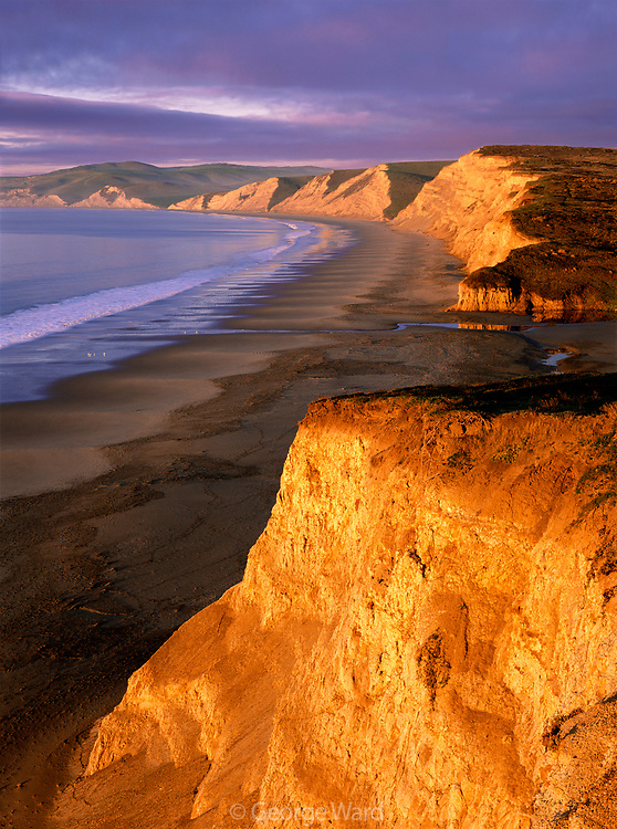 Sunrise at  Drakes Beach, Point Reyes National Seashore, California
