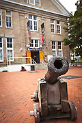 Old ship canons outside treasure hunter Mel Fishers Maritime Museum Key West, Florida.