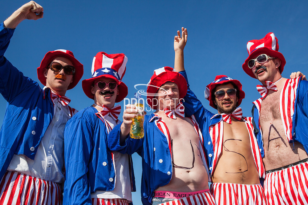 Fans on Brighton Beach during the Rugby World Cup 2015 match between Samoa and USA at the Brighton Community Stadium, Falmer, United Kingdom on 20 September 2015.