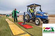 L'empresa catalana Gardentona instala la gespa dels nous camps d'entrenaments del Girona F.C. al PGA Catalunya Resort de Caldes de Malavella.