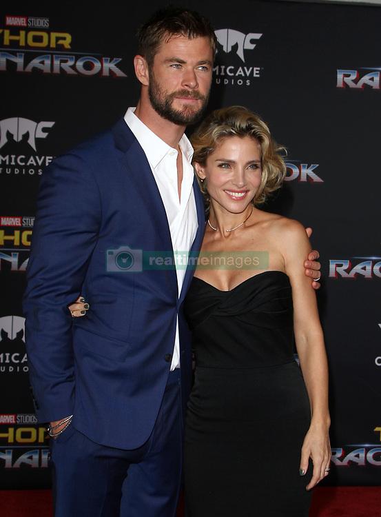 Thor: Ragnarok Premiere at El Capitan Theatre in Hollywood, California on 10/10/17. 10 Oct 2017 Pictured: Chris Hemsworth, Elsa Pataky. Photo credit: River / MEGA TheMegaAgency.com +1 888 505 6342