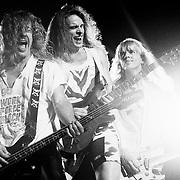 ALLENTOWN JULY 22: The Damn Yankees perform on July 22, 1990 in Allentown, Pennsylvania.©Lisa Lake