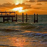 Fine art seascapes of Taino Beach board walk and beach