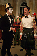JOHNNY BULLMAN; GUY LINZEE, Ball at to celebrateBlanche Howard's 21st and  George Howard's 30th  birthday. Dress code: Black Tie with a touch of Surrealism. Castle Howard. Yorkshire. 14 November 2015