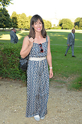 VISCOUNTESS GRIMSTON at the Frost Family Summer party in support of the British Heart Foundation and the Mile Frost Fund held at Burton Court, Chelsea, London  on 18th July 2016.