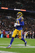 Rams wide receiver Josh Reynolds #83 scores a touchdown during the NFL game between Cincinnati Bengals and LA Rams at Wembley Stadium in London, United Kingdom. 27 October 2019