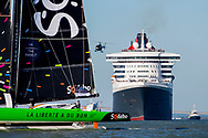 Sodebo Ultim, before the start of The Bridge 2017, a transatlantic race between the cruise liner RMS Queen Mary 2 and the world's fastest Ultim trimarans from Saint-Nazaire to New-York City on June 25, 2017 in Saint-Nazaire, France - Photo Vincent Curutchet / Dark Frame / ProSportsImages / DPPI