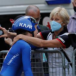 TRENTO (ITA): CYCLING: SEPTEMBER 8th: Elisa Longo Borghini en haar moeder Guidina dal Sasso