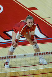 BLOOMINGTON, IL - October 23: Sarah Kushner  during a college Women's volleyball match between the ISU Redbirds and the Drake Buldogs on October 23 2021 at Illinois State University in Normal, IL. (Photo by Alan Look)