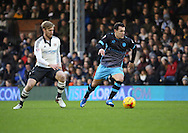 Sheffield Wednesday midfielder Ross Wallace dribbling during the Sky Bet Championship match between Fulham and Sheffield Wednesday at Craven Cottage, London, England on 2 January 2016. Photo by Matthew Redman.