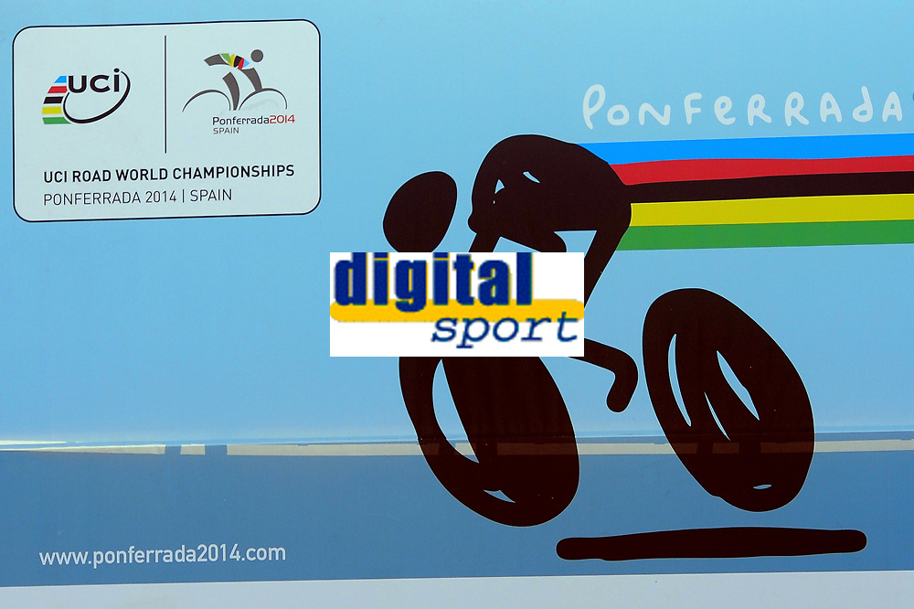 Illustration Logo during the UCI Road World Championships 2014, in Ponferrada,  Spain, Time Trial Men Elite,  Ponferrada - Ponferrada (47Km), on September 24, 2014. Photo Tim de Waele / DPPI
