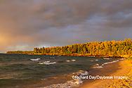 64795-03407 Lake Michigan shore at sunset Alger Co. MI