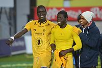 Fotball , 30. september 2013 , Adeccoligaen , 1. divisjon , <br /> Bodø/Glimt - Vard 1-0<br />  Godwin Antwi og Papa Alioune Ndiaye ,  Glimt pluss supporter