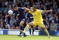 Photo: Olly Greenwood.<br />Southend United v Sheffield Wednesday. Coca Cola Championship. 09/09/2006. Southend's Billy Paynter and Sheffield's Majid Bougherra