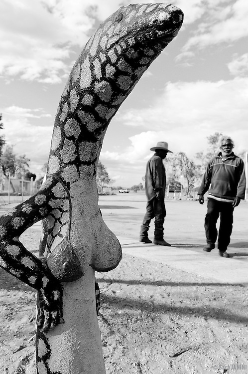 Aboriginal people at The Stuart Highway, Northern Territory, Australia, Oceania