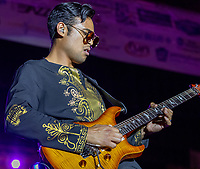 Mychael Gabriel  on tour with Shelia E in Harrisburg Pa at The Dauphin County Cultural Festival