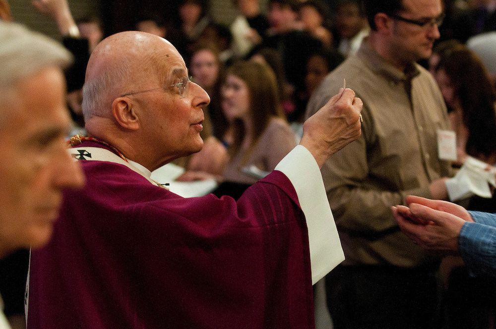 Chicago Archbishop Francis Cardinal George offers communion at a closing Eucharistic Celebration during the annual Parish Leadership Day hosted at Mother McAuley Liberal Arts High School in Chicago. © 2013 Brian J. Morowczynski ViaPhotos..For use in a single edition of Catholic New World Publications, Archdiocese of Chicago. Further use and/or distribution may be negotiated separately. ..Contact ViaPhotos at 708-602-0449 or email brian@viaphotos.com.   .Chicago Archbishop Francis Cardinal George celebrates a centennial anniversary mass in honor of St. Joseph Parish in far north suburban Round Lake. March 24, 2012 l Brian J. Morowczynski~ViaPhotos..For use in a single edition of Catholic New World Publications, Archdiocese of Chicago. Further use and/or distribution may be negotiated separately. ..Contact ViaPhotos at 708-602-0449 or email brian@viaphotos.com.