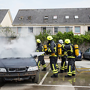 01.06.2018.         <br /> Six new recruits have joined the ranks of Limerick's Fire and Emergency Services following their official passing out parade in Mulgrave Street Station this afternoon [Friday 01 June 2018].<br />  <br /> The ceremony is the culmination of 15 weeks of intensive training and drills for Class 1 of 2018.<br />  <br /> The six new recruits are full time firefighters and will be based in Mulgrave Street.  They will be assigned to their 'Watch' following the ceremony. Picture: Alan Place