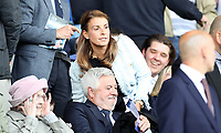 Football - 2017 / 2018 Premier League - Everton vs. Stoke City<br /> <br /> Coleen Rooney takes her seat to watch Wayne Rooney of Everton at Goodison Park.<br /> <br /> COLORSPORT/LYNNE CAMERON