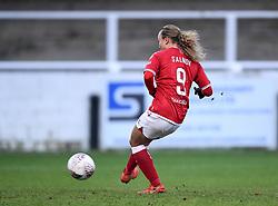 Ebony Salmon of Bristol City Women scores her sides third goal of the game from a penalty kick - Mandatory by-line: Ryan Hiscott/JMP - 30/01/2021 - FOOTBALL - Twerton Park - Bath, England - Bristol City Women v Brighton and Hove Albion Women - FA Womens Super League 1