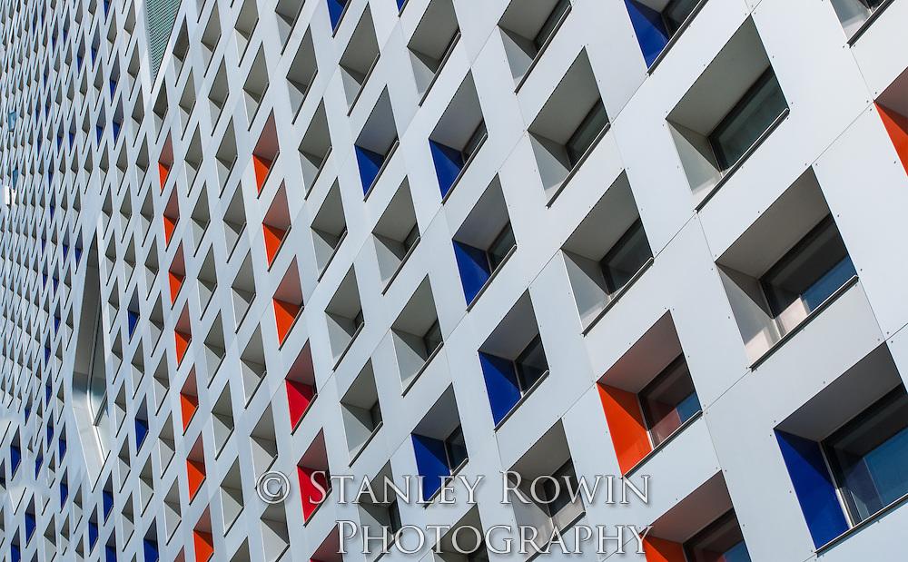 Simmons Hall, dormitory, MIT,Window Pattern,Massachusetts Institute of Technology