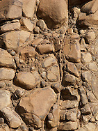 Naturally cemented boulders are exposed in Klickitat Canyon, near Glenwood, Klickitat County, WA, USA