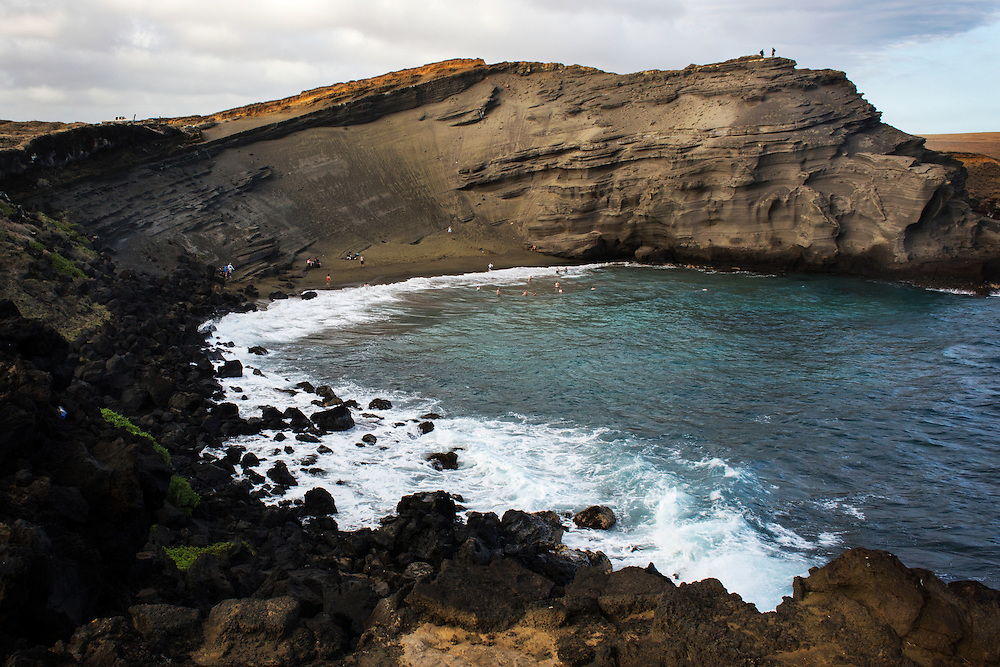 Papakolea Beach (Green Sands Beach) Big Island, Hawaii.
