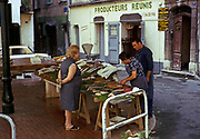 Street fish market at Grasse, French Riviera, France 1974