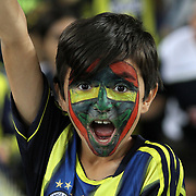 Fenerbahce's young supporter during their Turkish superleague soccer match Fenerbahce between Mersin idman Yurdu at the Sukru Saracaoglu stadium in Istanbul Turkey on Sunday 16 September 2012. Photo by TURKPIX