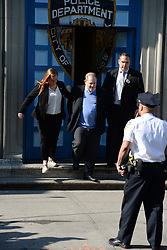 May 25, 2018 - New York, NY, USA - Harvey Weinstein leaves the First Precinct Police Station in handcuffs in Tribeca in New York City on May 25, 2018. (Credit Image: © Kristin Callahan/Ace Pictures via ZUMA Press)