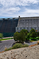 Grand Coulee Dam Panorama. Five of seven images taken with a Nikon D300 camera and 18-200 mm VR lens (ISO 200, 18 mm, f/11, 1/500 sec). Raw images processed with Capture One Pro, Photoshop and CC, NIK Color Efex. Panorama created using AutoPano Pro.