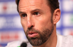 England manager Gareth Southgate during a press conference at The King Power Stadium, Leicester. PRESS ASSOCIATION Photo. Picture date: Monday September 10, 2018. See PA story SOCCER England. Photo credit should read: Mike Egerton/PA Wire. RESTRICTIONS: Use subject to FA restrictions. Editorial use only. Commercial use only with prior written consent of the FA. No editing except cropping.