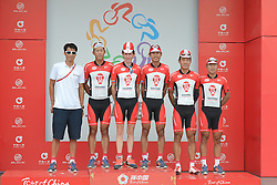 September 16, 2016 - Wuhan, China - Wisdom - Hengxiang Cycling Team from China wins the China Best Team classification after the final sixth stage, 99.6km Wuhan Xinzhou Circuit race, of the 2016 Tour of China 1..On Friday, 16 September 2016, in Xinzhou, Wuhan , China. (Credit Image: © Artur Widak/NurPhoto via ZUMA Press)