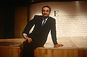 A portrait of French economist and civil servant, Jacques Attali after an event with the European Bank For Reconstruction & Development, on 1st April 1993 in London, UK. Attali is a French economic and social theorist, writer, political adviser and senior civil servant, who served as a counselor to President François Mitterrand from 1981 to 1991 and was the first head of the European Bank for Reconstruction and Development in 1991-1993.