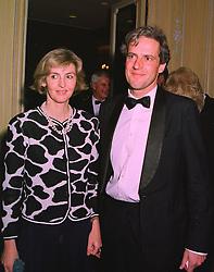The HON.ALASTAIR & LADY SOPHIA MORRISON at a dinner in London on 19th November 1997.MDM 19