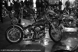 After a downpour cooled down the Harley-Davidson sponsored Friday evening party in the hotel parking lot before the Race of Gentlemen. Wildwood, NJ, USA. October 9, 2015.  Photography ©2015 Michael Lichter.
