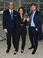Jonathan Sothcott, Jeanine Nerissa Sothcott, Danny Bear, Virtual awards for SME News, Greater London Enterprise Awards, awards Shogun Films, Best emerging Independent Film Production UK  award. Millennium Hotel Kensington. photo by Terry Scott