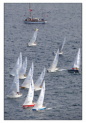 The third days racing at the Bell Lawrie Yachting Series in Tarbert Loch Fyne ..Perfect conditions finally arrived for competitors on the three race courses...National Sonata Class Start...