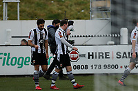 Football - 2020 / 2021 Emirates FA Cup - Round Three: Chorley vs. Derby County<br /> <br /> Chorley celebrate after Mike Calveley made it 2-0 in the 84th minute, at Victory Park.<br /> <br /> COLORSPORT/ALAN MARTIN