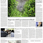 """Tearsheet (Front page) of """"Tuam Children's Grave Yard"""" published in The New York Times"""