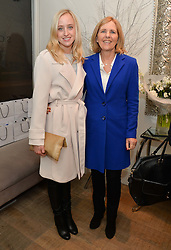 Left to right, CHARLOTTE COX and SUE BRENDISH  at a Valentine's charity event to raise heart awareness and support the charity Arrhythmia Alliance held at Sophie Gass, 4 Ladbroke Grove, London on 13th February 2014.